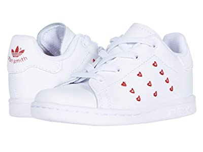adidas Originals Kids Stan Smith EL (Toddler) (White/Lush Red) Girl