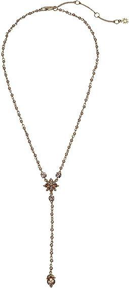 """Crystal 18"""" Y-Necklace"""