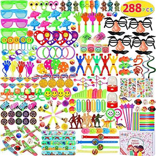 Max Fun 288pcs Party Favors Toys Assortment for Kids Birthday Party Favor Carnival Prizes Box Toy Assortment for Classroom Rewards Goodie Bag Fillers Pinata Filler Bulk Toys Treasure Box (X-Large)