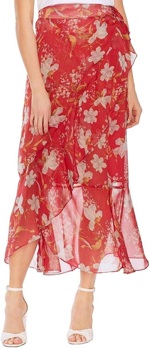 VINCE CAMUTO Women's Wildflower Chiffon Wrap Skirt