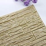 JiaMeng Pegatina de Pared, DIY 3D ladrillo PE Espuma Wallpaper Panels Room Decal Stone decoración en Relieve