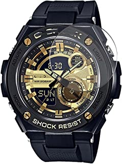 Puccy 3 Pack Tempered Glass Screen Protector Film, compatible with CASIO G-SHOCK GST-210B GST210B series Protectors for Sm...
