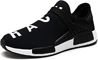 Fashion Shoebox Mens Womens Unisex Lightweight Fashion Sneakers Breathable Lace-up Athletic Sports Shoes Human Race Casual Running Shoes
