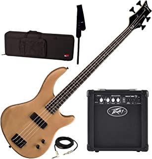 $319 » Dean Edge 09 Satin Natural Bass Guitar, Peavey Max 126 Amp, Strap, Case