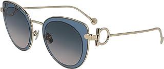 نظارة شمسية نسائية من SALVATRE FERRAGAMO - لون أزرق داكن