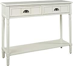 Ashley Furniture Signature Design - Goverton Console Sofa Table - Vintage Casual - White