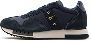 Scarpe Blauer Sneaker Running Mod. Queens in Suede/Tessuto BLU Navy uomo U21BU02