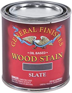 General Finishes Oil Based Penetrating Wood Stain, 1/2 Pint, Slate