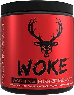 Bucked Up - Woke - HIGH STIM Pre Workout - Best Tasting - Focus Nootropic, Pump, Strength and Growth, 30 Servings (Blue Raz)