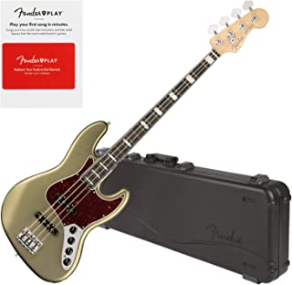 $1849 » Fender 0197001719 American Elite Jazz Bass, Ebony Fingerboard, Satin Jade Pearl w/Hard Case and Fender Play Card