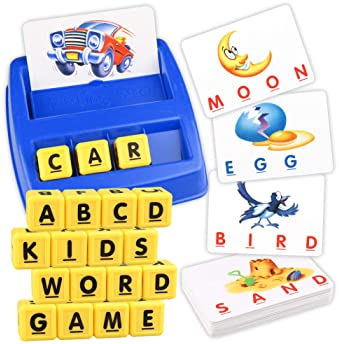 Upgraded Matching Letter Spelling Game Preschool Learning Toys for Kids Toddler Age 4 3 5 and up