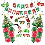 Decoraciones Navideñas, Achort Merry Christmas Bandera Papá Noel Globos...