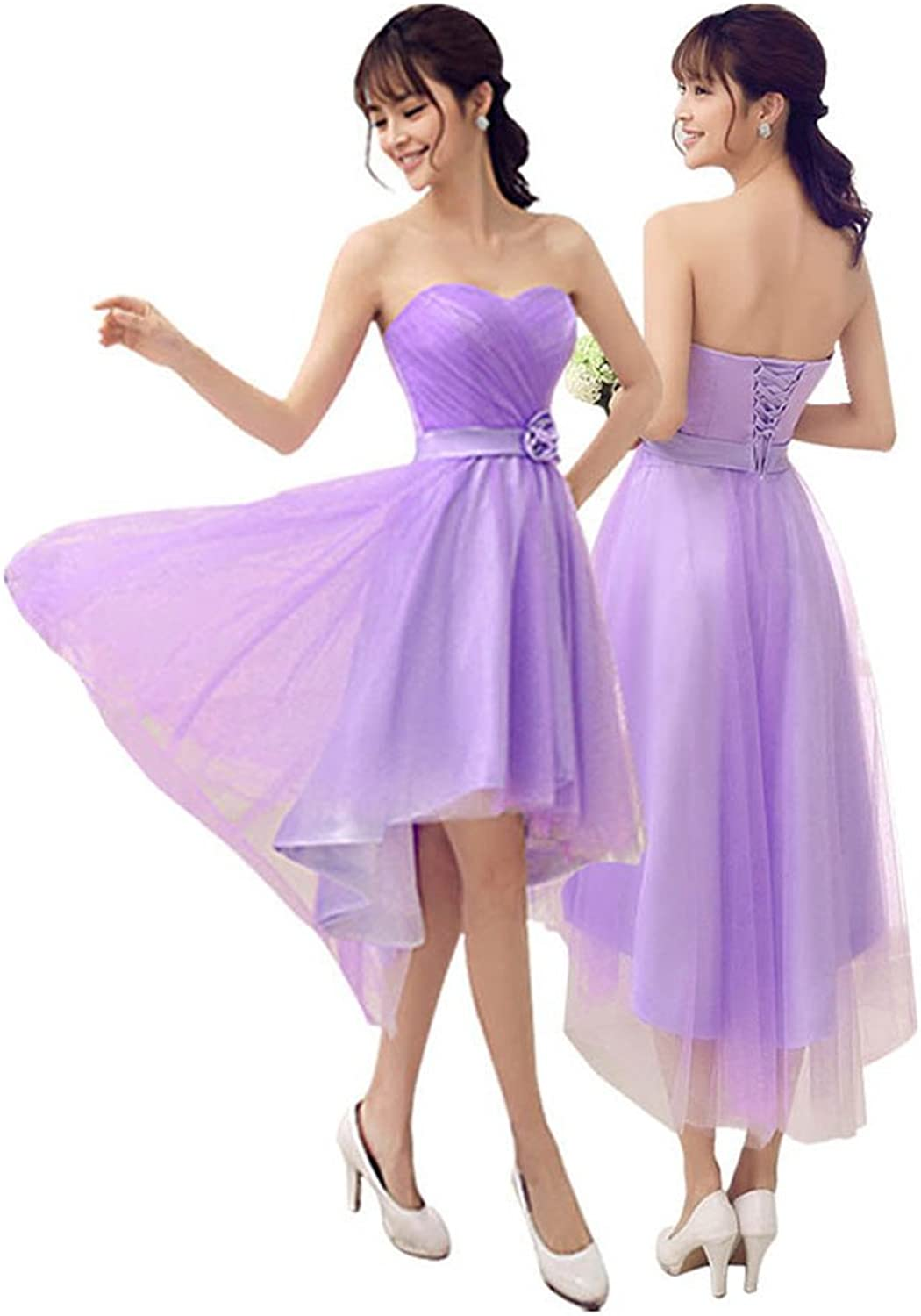 Drasawee Women Mini Short Bridesmaid Dress Junior Prom Party Gowns Purple B XXLarge