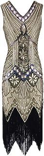 Xingsiyue Donne 1920s Flapper Vestito, Gatsby Vintage Plus Size Roaring 20s Abiti Nappa Lustrino Festa Prom Abito da Sera