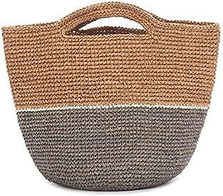 TOOGOO Women Handbag Summer Beach Bag Handmade Woven Large Capacity Totes Bohemia Straw Women Shoulder Bag New Pink