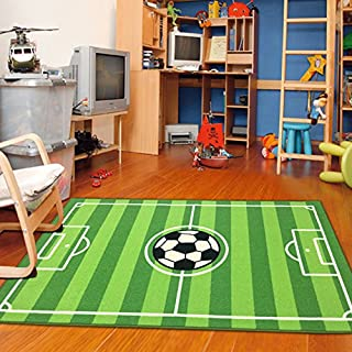 Furnish my Place 680 Strips Rectangle 3'3 X 5 Soccer Field Ground Kids Play Area Rug, 3'3