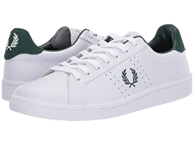 Fred Perry B721 Leather (White/Ivy) Men