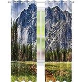 Cortina opaca para ventana Yosemite North Dome Valley Park W52 x L72 cortinas oscurecedoras para sala de estar