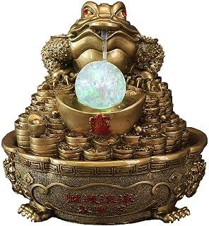 PAKUES-QO Foo Fu Chiens Feng Shui Laiton Lmperial Lion Golden Seal Guardian Neuf Têtes Statues Artisanat Décor pour Parer ...