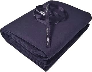 tarnishSTOP Luxury Anti-Tarnish Prevention Silver Cloth, Fabric by The Yard, (1 Yard, Black) 58 Inches Wide + Logo Ribbon, Silverware Wrap & Drawer Liner