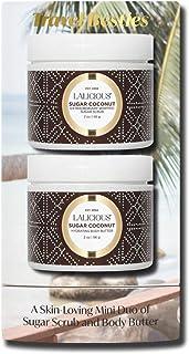 Lalicious Sugar Coconut Travel Besties Set - 2-Piece Gift Set Includes Travel-Size Whipped Sugar Scrub & Hydrating Body Bu...