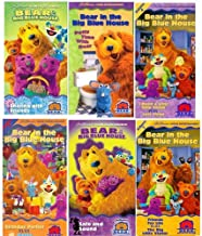 bear in the Big Blue House set 6 vhs: Bear in the Big Blue House - Potty Time with Bear, Bear in the Big Blue House - Sharing with Friends,Bear in the Big Blue House, Vol. 4 - I Need a Little Help Today, Bear in the Big Blue House, Vol. 7 - Birthday Parties , Bear in the Big Blue House - Safe and Sound , Bear in the Big Blue House, Vol. 2 - Friends for Life / The Big Little
