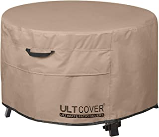 ULTCOVER Patio Fire Pit Table Cover Round 32 inch Outdoor Waterproof Fire Bowl Cover