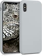 kwmobile TPU Silicone Case for Apple iPhone X - Soft Flexible Rubber Protective Cover - Light Grey Matte
