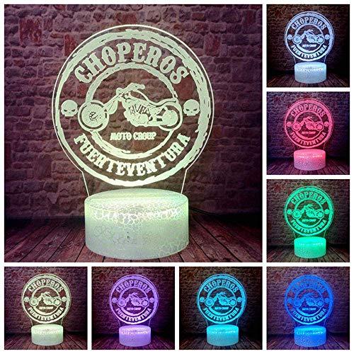 3D Illusionslampe LED Nachtlicht Chopper Motorrad Biker Fahrer Motorrad Choperos Home Decor Tischlampe Schlafzimmer Junge Urlaub Kinder Weihnachtsgeschenke Spielzeug