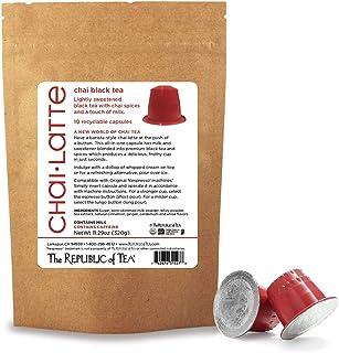 Sponsored Ad - The Republic of Tea Chai Tea Latte, 10 Nespresso Compatible U-Matcha Capsules
