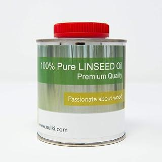 Uulki Reines Leinöl Möbelöl Holzschutz Holzöl Holzpflege | Ein universell einsetzbares Pflegeöl für Möbel und Holzoberflächen im Innen- und Außenbereich Arbeitsplattenöl 250 ml