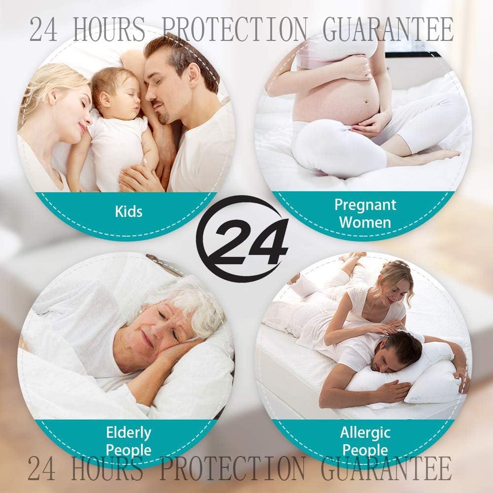 JHKJ Protecteur de Matelas Imperméable,qualité Supérieure Hypoallergénique - Respirante Équipée Couvre-Matelas,150x200cm 140x200cm