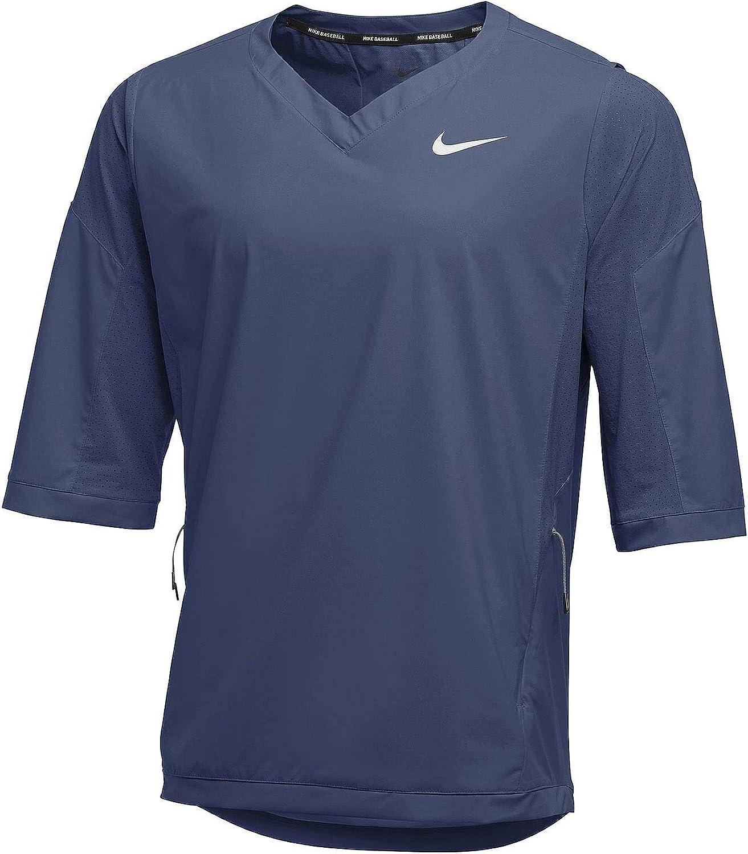 Nike Team Mens Dark Gray Lightweight Hot Baseball 3/4 Sleeve Jacket