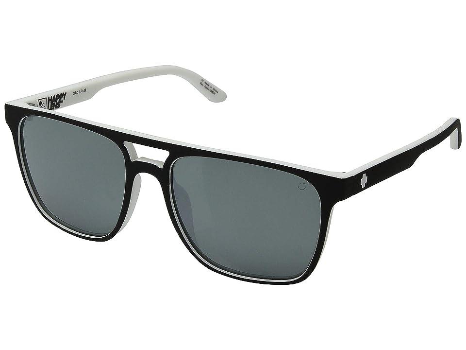 Spy Optic Czar (Whitewall/Happy Gray Green/Platinum Spectra Mirror) Athletic Performance Sport Sunglasses