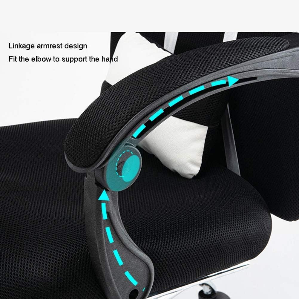 YXB Chaise Gaming Travail Chaise Cuir PU avec Dossier Haut for Jeux De Massage, Chaise De Bureau Pivotante Inclinable, Support Lombaire Réglable (Color : Green) Gray