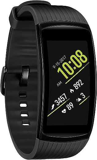Samsung Gear Fit2 Pro Smart Fitness Watch (Large), Liquid Black - SM-R365NZKAXAR (Renewed)