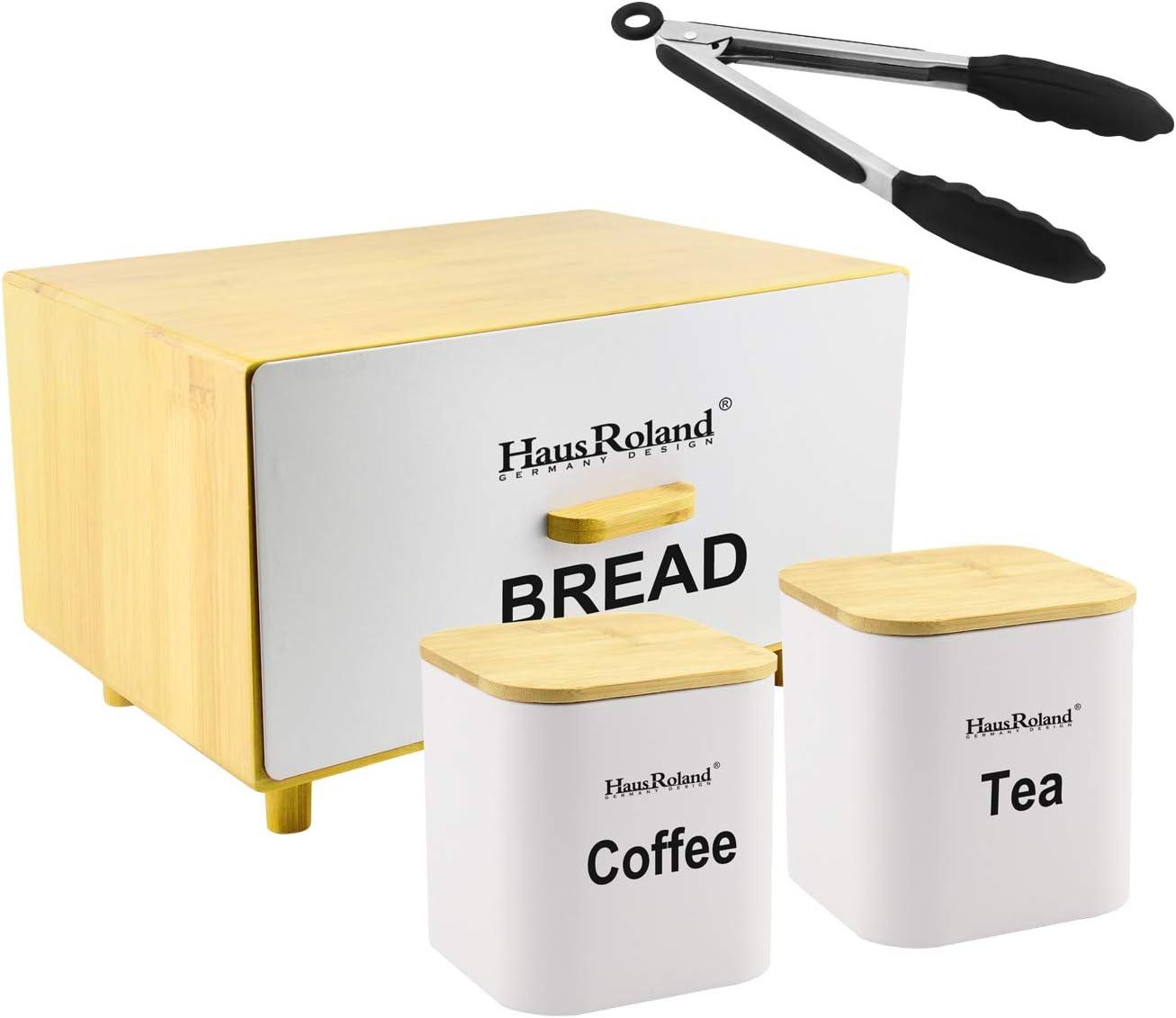 HausRoland Bread Box for Kitchen Counter Drawer Bread Bin Storag