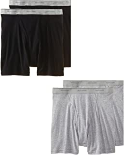 Men's Stripe/Solid Assorted Boxer Briefs(Pack of 4)