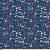 ABAKUHAUS Fahrrad Stoff als Meterware, Fahrrad-Skizzen auf