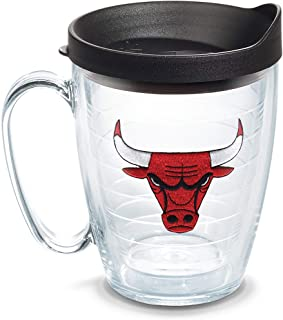 Tervis NBA Chicago Bulls Primary Logo Tumbler with Emblem and Black Lid 16oz Mug, Clear