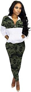Women's Sweatsuit, 2 Piece Outfits Tracksuit for Women Zip Up Hoodie Jogging Sweatsuit Workout Sets,Green,XXXXL