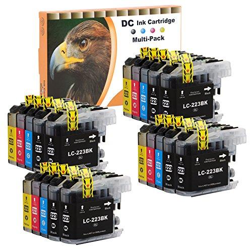 D&C 20 Set Druckerpatronen Tintenpatrone komp. für Brother LC-221 LC-223 DCP J4120 DWG,J562 DW,MFC J4420 DW,J4620 DW,J4625 DW,J480 DW,J5320 DW,J5620 DW,J5625, J5720 DW,J680 DW,J880 DW mit Chip