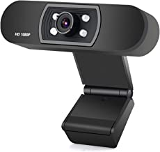ANTZZON Webcam 1080P Full HD PC Skype Camera,with Microphone, Video Calling and Recording for Computer Laptop Desktop, Plu...