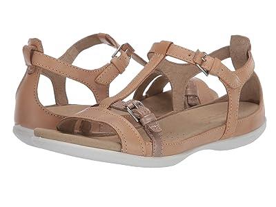 ECCO Summer Buckle Sandal (Powder/Champage Metallic Cow Nubuck/Cow Leather) Women
