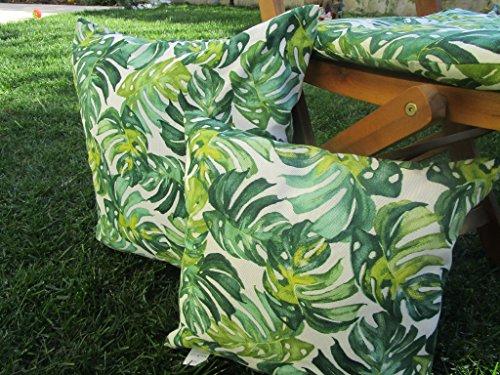 Pago Poco Novita !!! Kollektion 2018-2019 !! Kissenbezug; Abnehmbarer Bezug mit Reißverschluss aus grünem Baumwollstoff 40x40cm