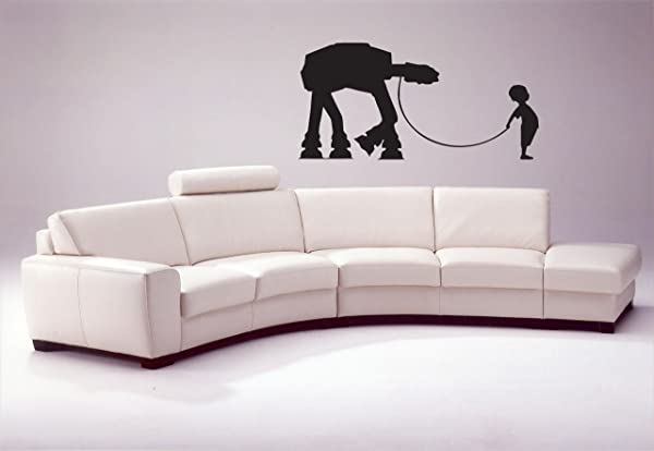 Little Boy With His At At Wall Decal At At Walker Star Wars Decal Storm Trooper Decal Boy And His At Stormtrooper Little Boy Nursery Tr411 By Stickalz