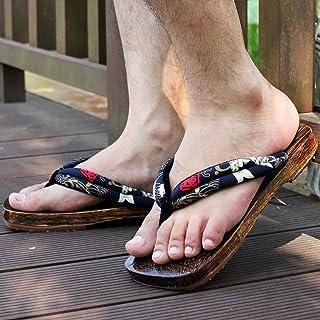 YXCKG Pantuflas para Hombres Mujeres, Sandalias Tradicionales Japonesas Zapatos De Madera, Zuecos De Madera, Plataforma Za...