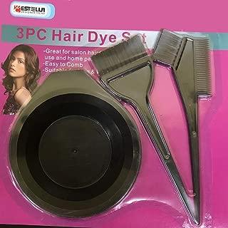 3 Pcs Professional Salon Hair Coloring Dyeing Kit - Dye Brush & Comb/Mixing Bowl/Tint Tool