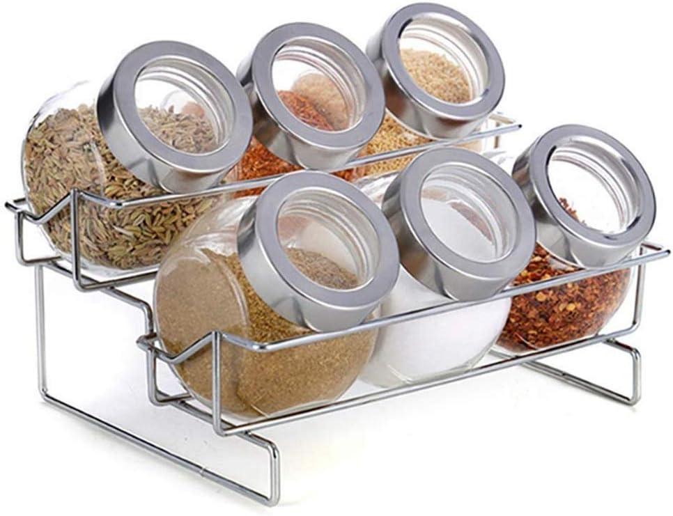 SPNEC Glass Storage shopping Tank-2 Arlington Mall Tier with Rack Holder 6 Spice