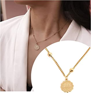 Frodete Women Gold 12 Constellation Zodiac Necklace Dainty Horoscope Sign Pendant Necklace Birthday Gifts for Her Jewelry